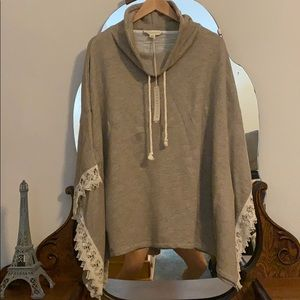 Lovestitch Lace-detailed poncho